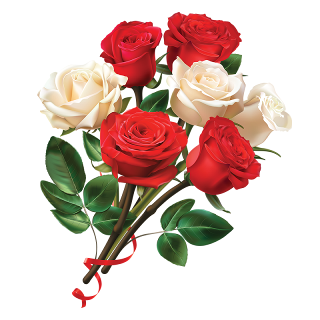 Download flower photos vector library download Women Day Red And White Rose Flower, Women Day, Rose Flower, Red ... vector library download