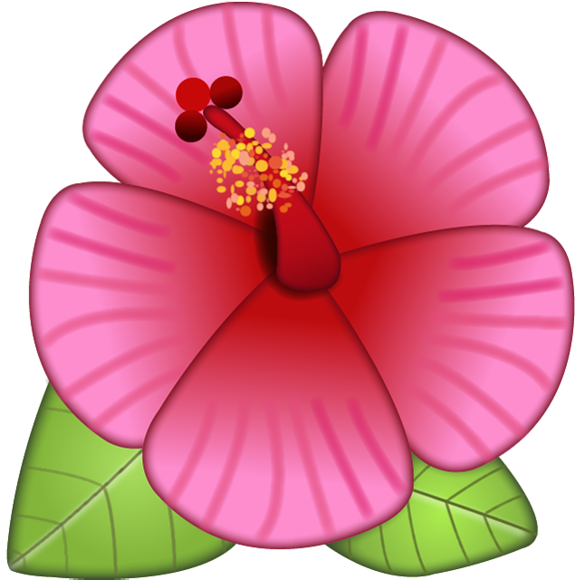 Download flower pictures image library Download Hibiscus Flower Emoji Image in PNG | Emoji Island image library