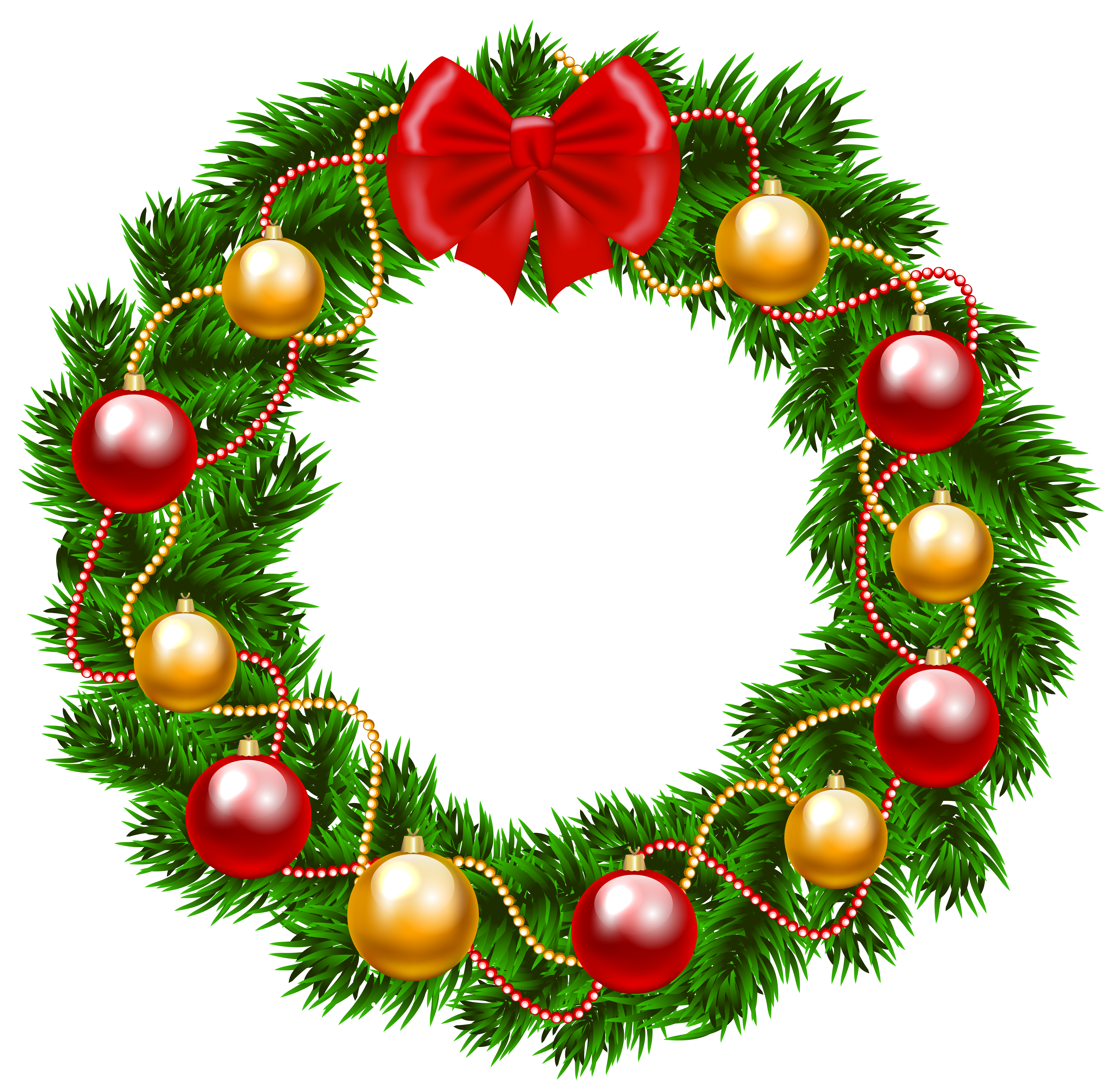 Free christmas wreath clipart clipart library download Christmas Wreath PNG Clipart Image | Gallery Yopriceville - High ... clipart library download