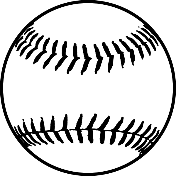 Baseball outline clipart picture freeuse 28+ Collection of Softball Clipart Image | High quality, free ... picture freeuse
