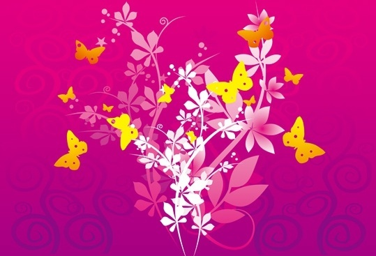 Flowers and Butterfly vector Free vector in Adobe Illustrator ai ... image library stock