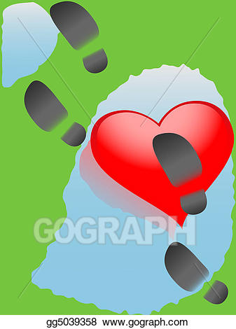 Downtrodden clipart jpg library download Clipart - Downtrodden heart. Stock Illustration gg5039358 - GoGraph jpg library download