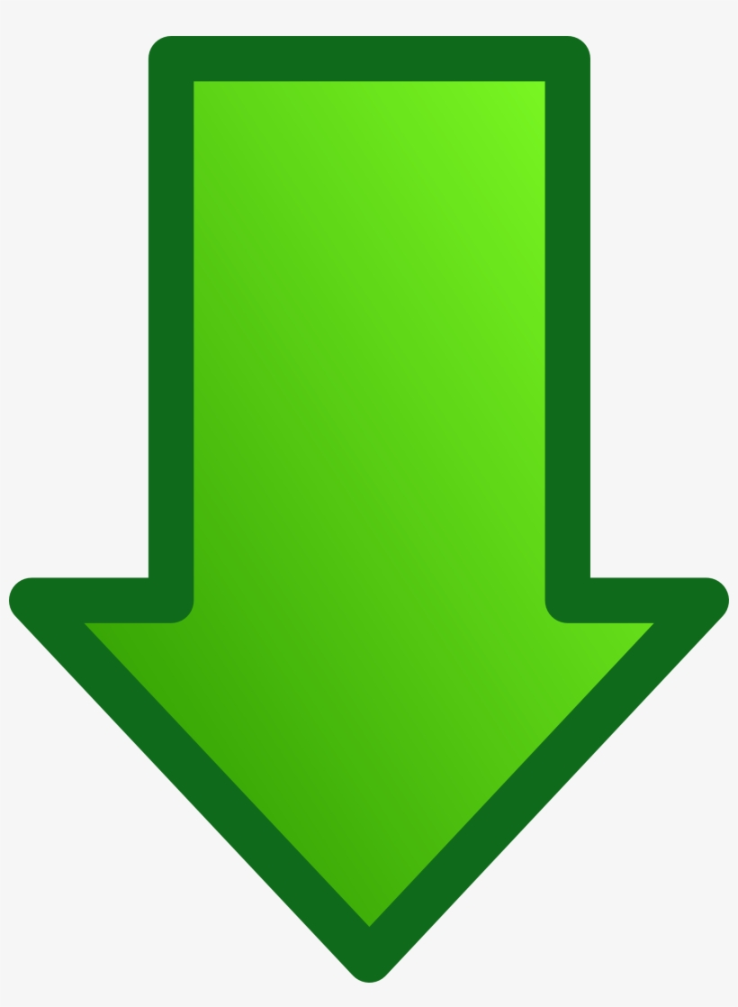Free down arrow clipart. Green png transparent