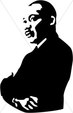 Mlk quotes clipart