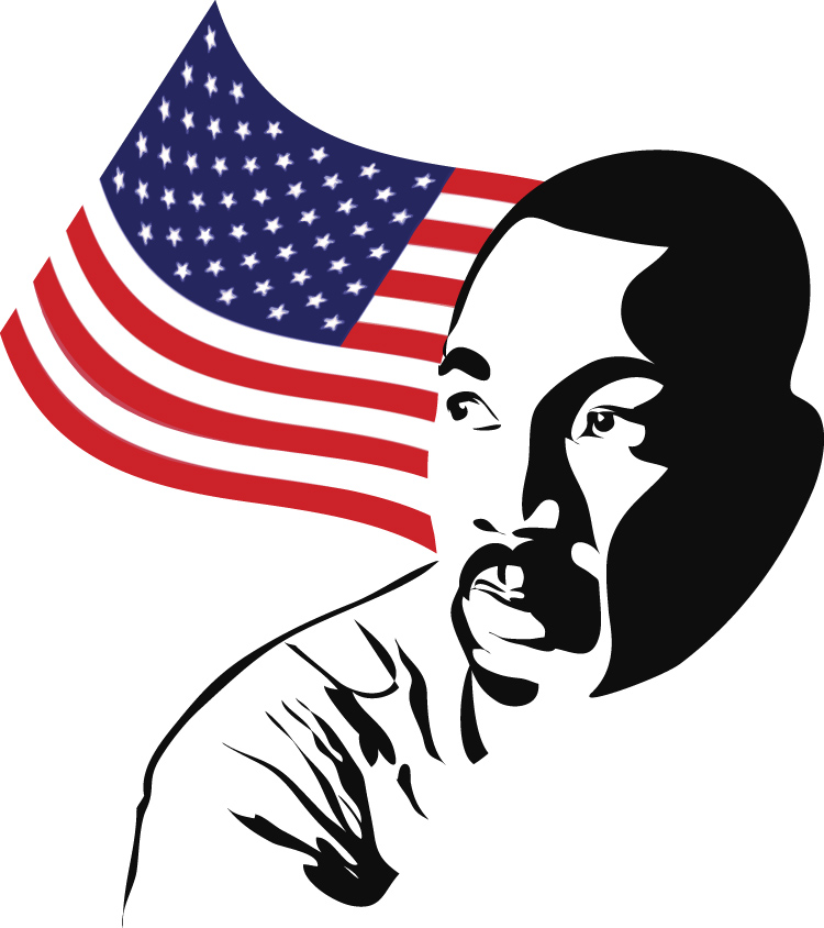 Martin luther king jr clipart simple