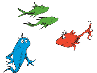 One fish two fish clipart pdf free transparent library Dr. Seuss\' One Fish Two Fish Games & Activities - Earlymoments.com ... transparent library