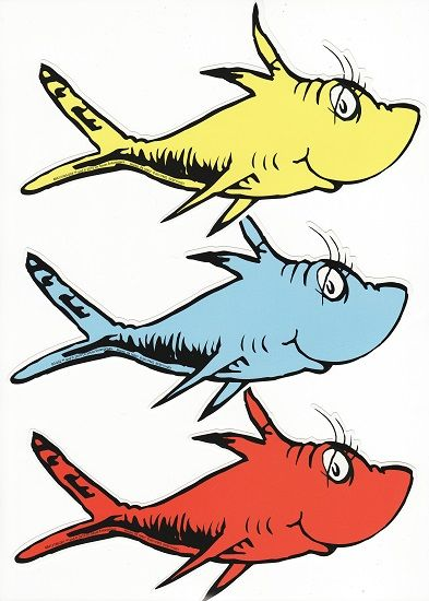 One fish two fish clipart pdf free clip freeuse stock dr seuss stickers scrapbooking | DR SEUSS 1 FISH 2 FISH DIE CUT ... clip freeuse stock