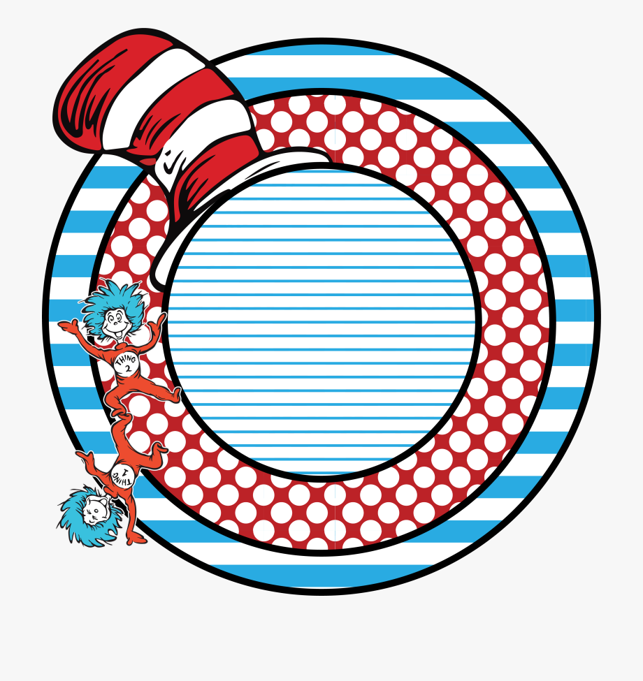 Dr seuss background clipart transparent Reading Across America Day Transfers Sew Down - Blank Circle No ... transparent