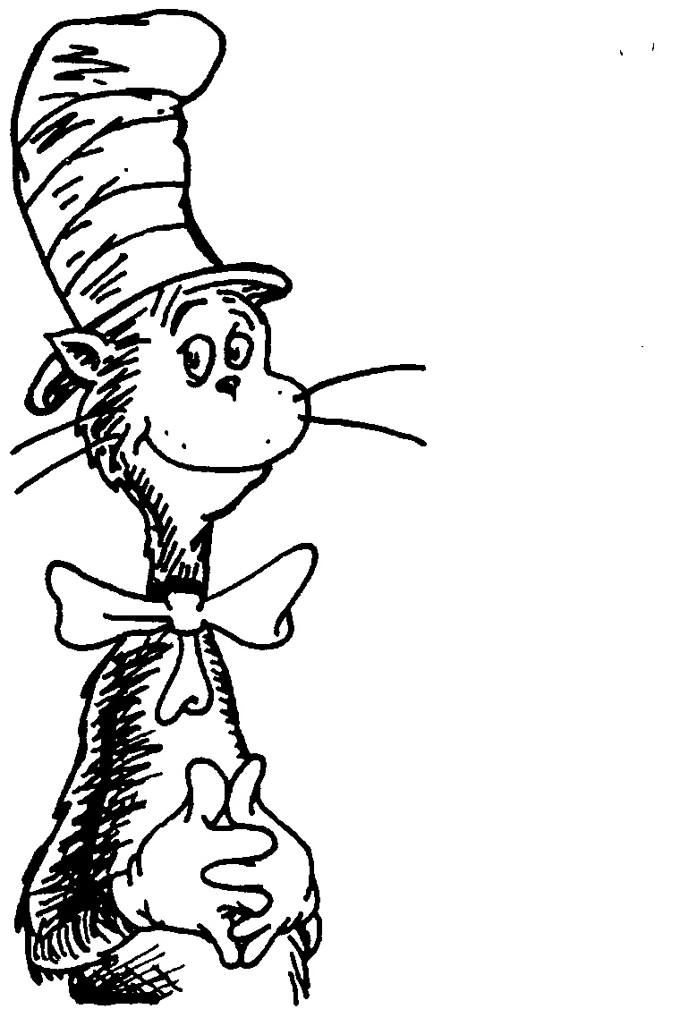 Dr seuss clipart black and white png transparent library Black And White Dr Seuss Clipart transparent library