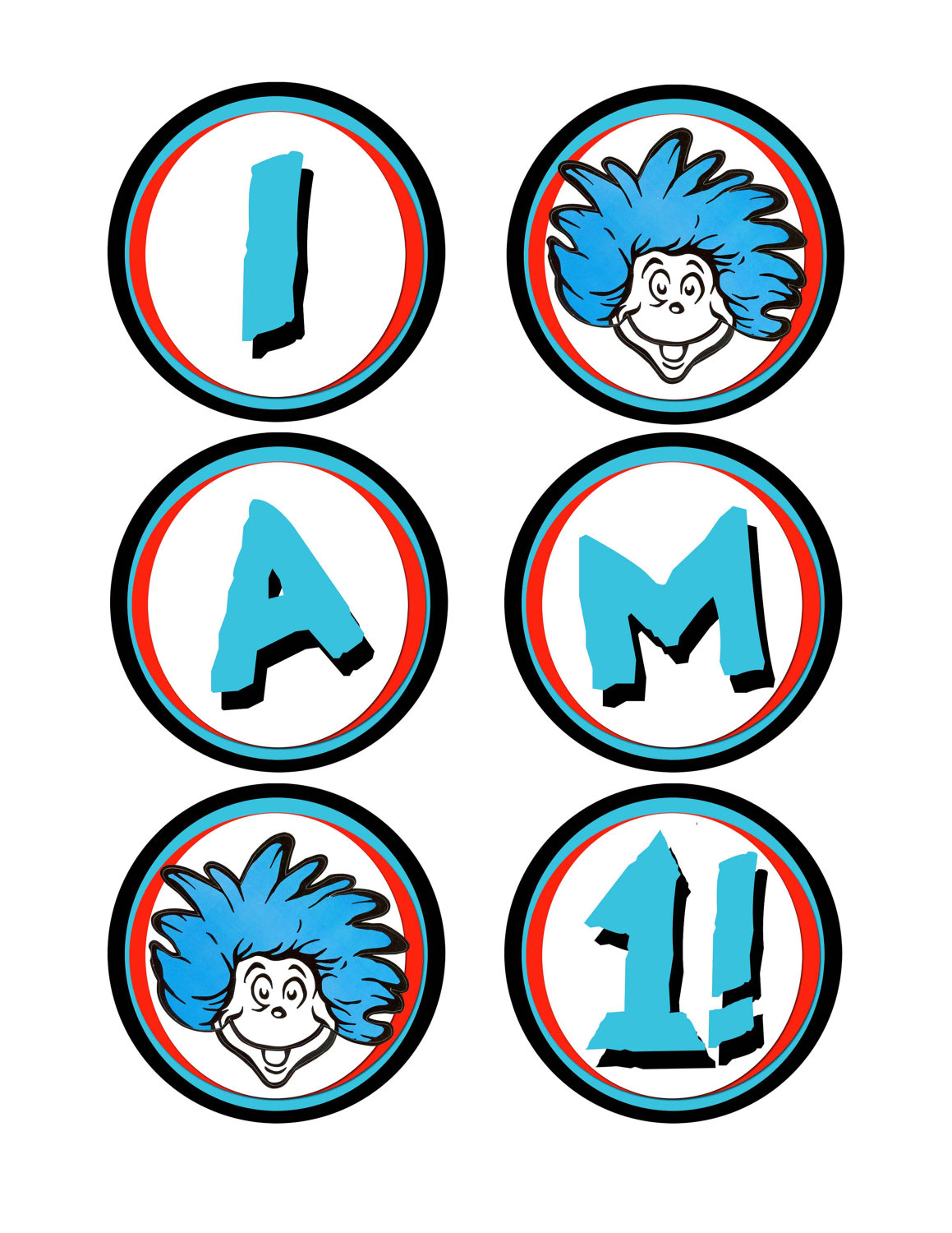 Dr. Seuss Thing 1 Clipart - Clipart Kid clip free stock