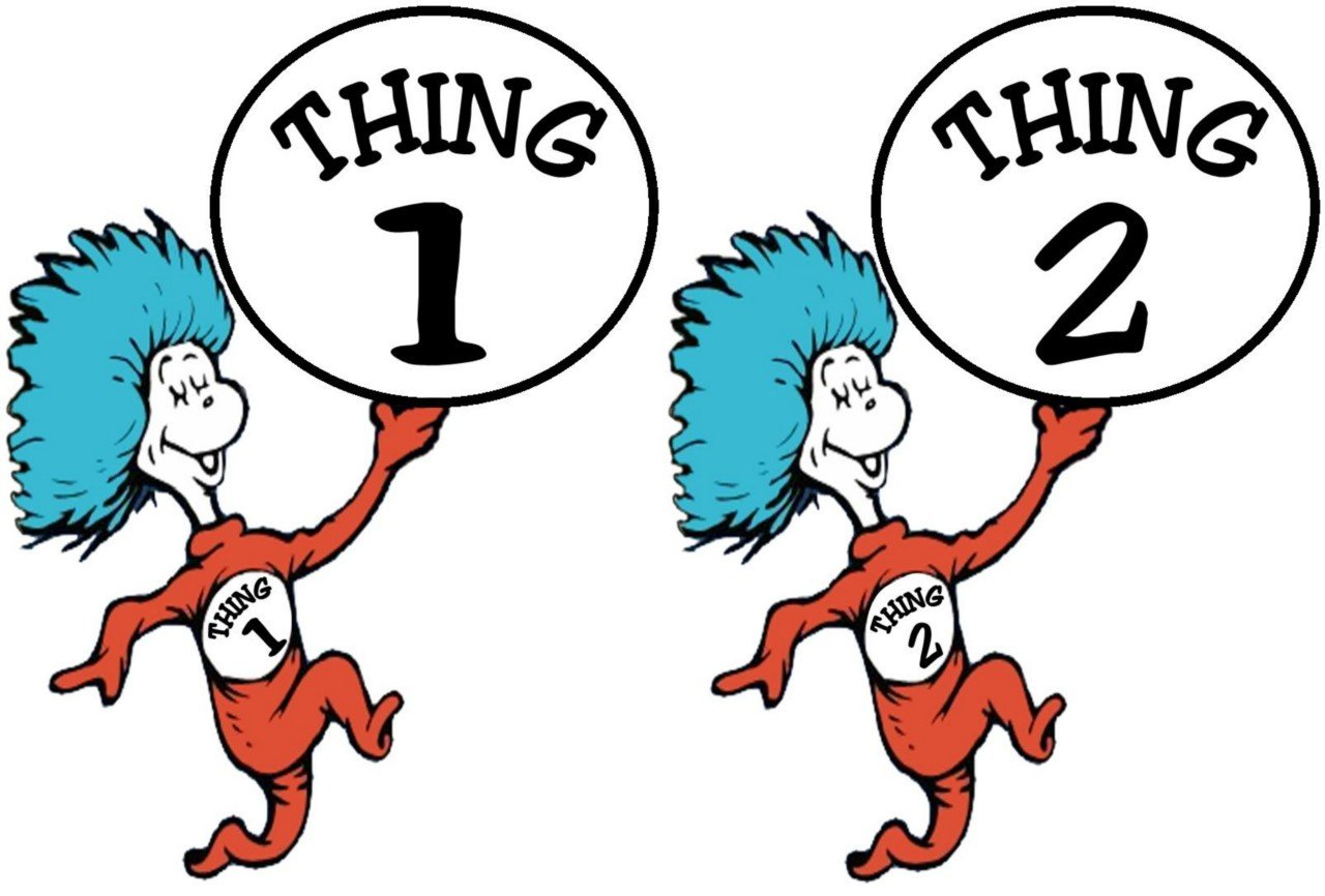 Dr seuss clipart thing 1 and thing 2 picture freeuse library Thing 1 And Thing 2 Black And White Clipart - Clipart Kid picture freeuse library