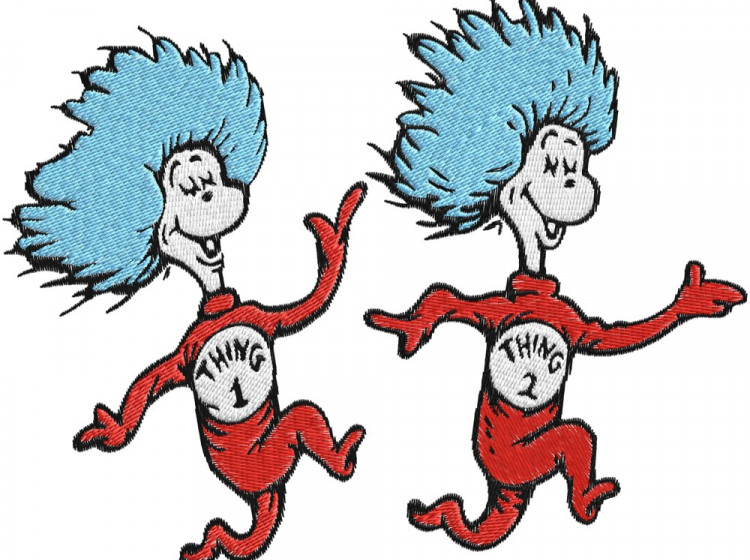 Dr seuss clipart thing 1 and thing 2 banner transparent library Thing One And Thing Two Clipart & Thing One And Thing Two Clip Art ... banner transparent library