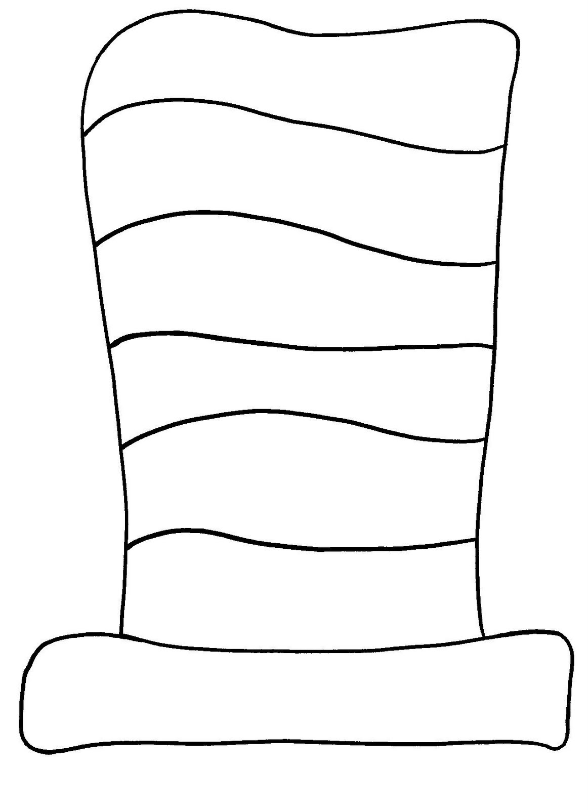 Dr seuss hat black and white clipart png download Photos of free template of dr seuss cat in the hat clipart - Clipartix png download