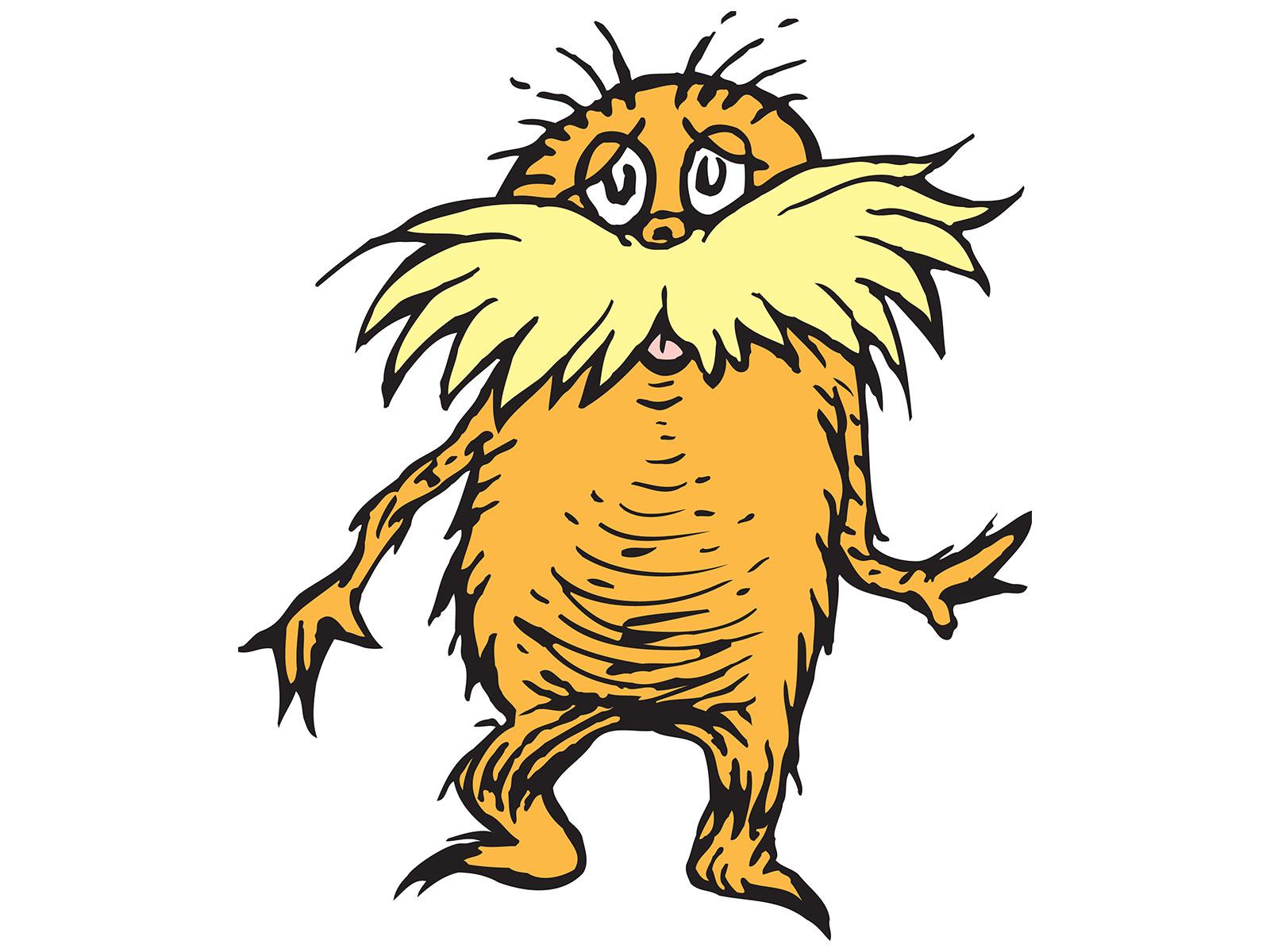 Dr seuss lorax clipart vector freeuse library New Research Suggests Dr. Seuss Modeled the Lorax on This Real-Life ... vector freeuse library