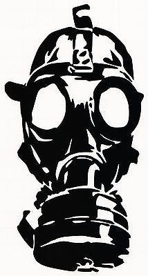 Drag racing gas mask clipart svg transparent GAS MASK- VINYL DECAL STICKER CAR TRUCK WINDOW BUMPER ZOMBIE WALKING ... svg transparent