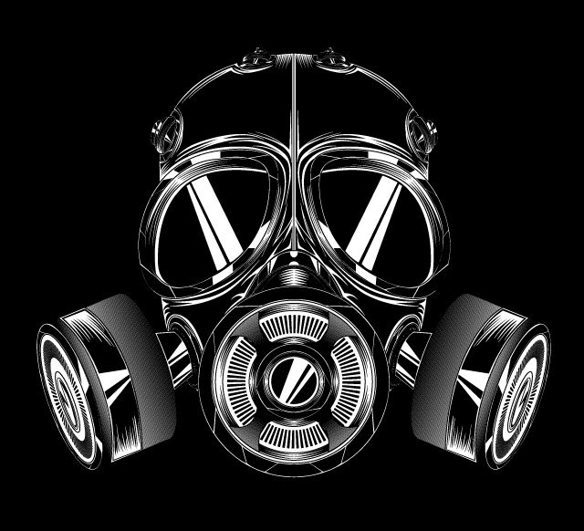 Drag racing gas mask clipart clipart black and white stock Vector Gasmask - Abduzeedo | T-Shirt ideas | Gas mask art, Gas mask ... clipart black and white stock