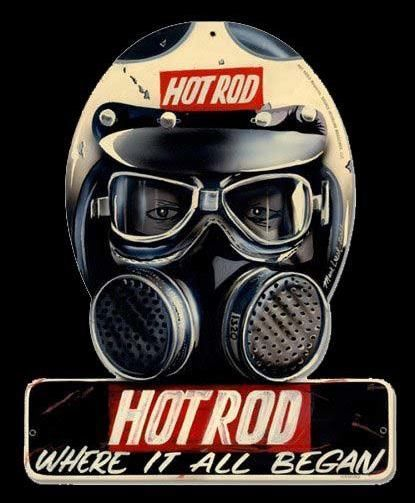 Drag racing gas mask clipart graphic freeuse download Vintage Hot Rod Deluxe Metal Sign 12 x 15 inches | Signage | Hot ... graphic freeuse download