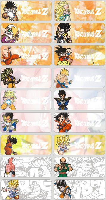 Dragon ball z frame clipart png tag png free stock Details about 18 Dragon Ball Z Personalised name Label Sticker ... png free stock