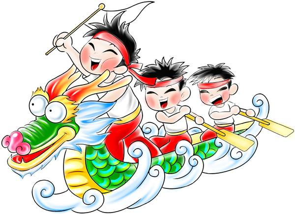Dragon boat racing clipart
