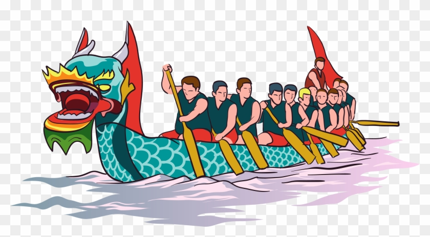 Dragon boat race clipart vector freeuse stock Drawing Chinese Dragon Boat Festival - Dragon Boat Racing Png ... vector freeuse stock