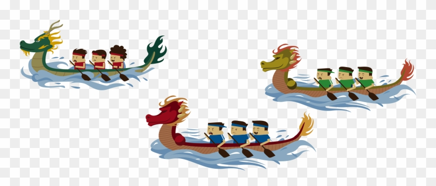 Dragon boat racing clipart banner library download Dragon Boat Festival Bateau-dragon - Dragon Boating Png ... banner library download