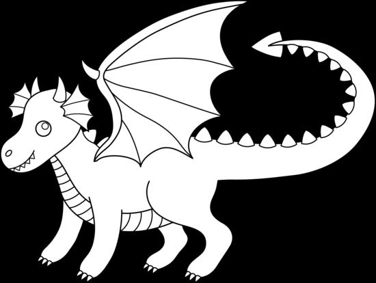 Dragon clipart black and white clip art jpg freeuse library Free Clip art of Dragon Clipart Black and White #4308 Best Clipart ... jpg freeuse library