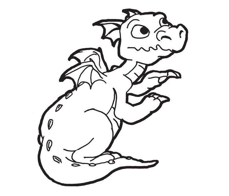 Dragon clipart black and white clip art image freeuse Free Clip art of Dragon Clipart Black and White #4292 Best Cute ... image freeuse