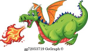 Dragon fire clipart