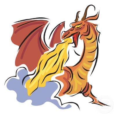 Free Pictures Of Fire Dragons, Download Free Clip Art, Free ... clip black and white