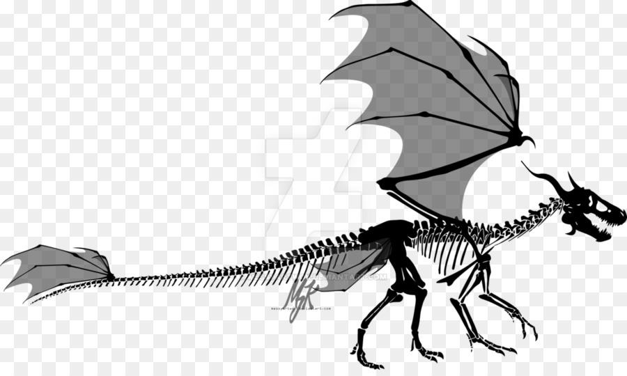 Dragon skull clipart image black and white library Human Skull Drawing clipart - Dragon, Skull, Wing ... image black and white library