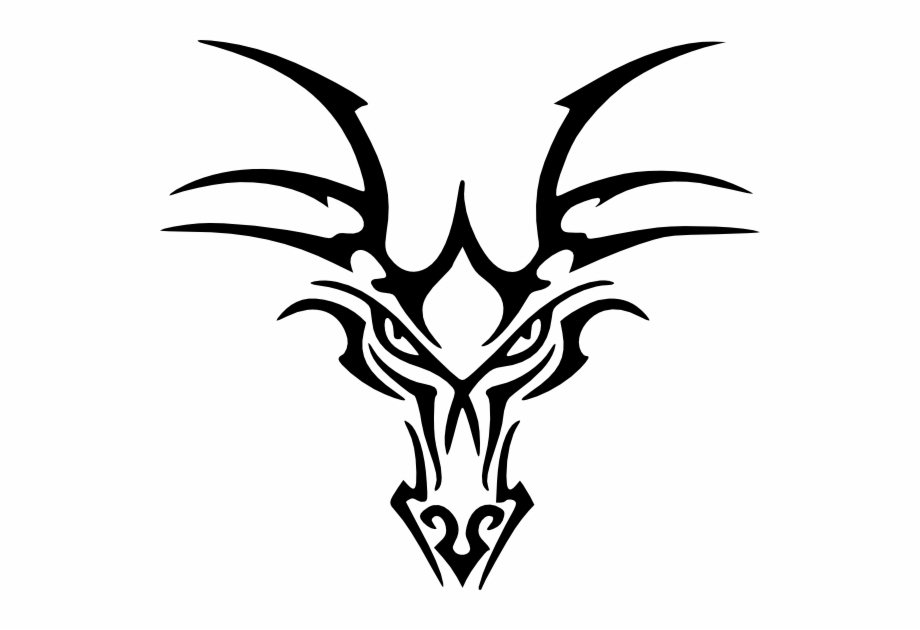 Dragon skull clipart clip art transparent library Tribal Dragon Head Tattoo Free PNG Images & Clipart Download ... clip art transparent library