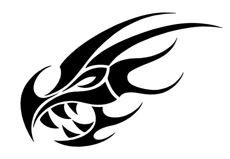 Dragon skull clipart vector black and white library Black And White Dragon Tattoos Clipart | Free download best ... vector black and white library