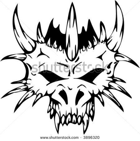 Dragon skull clipart svg black and white tribal dragon skull - Google Search | Artwork | Clip art ... svg black and white
