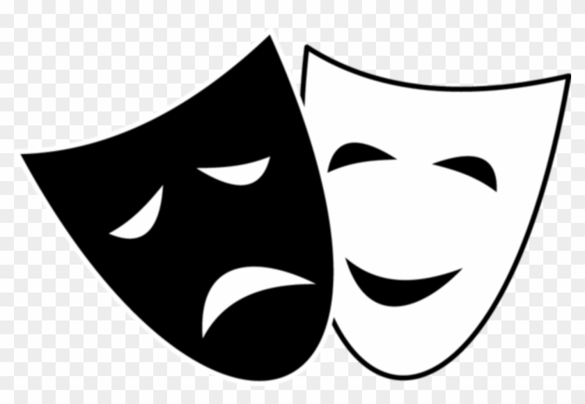 Drama comedy masks clipart transparent stock Drama Children - Comedy And Tragedy Masks, HD Png Download ... transparent stock