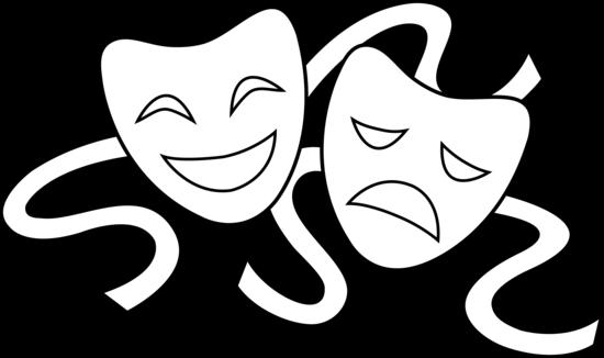 Drama comedy masks clipart graphic Clip Art Drama Masks | Theater Masks Line Art | Theatre | Drama ... graphic