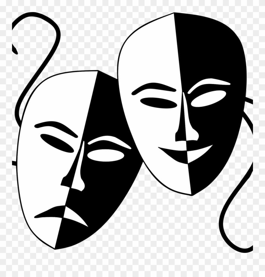 Drama comedy masks clipart clip free Comedy Tragedy Masks Png - Drama Mask Clipart (#3357134) - PinClipart clip free