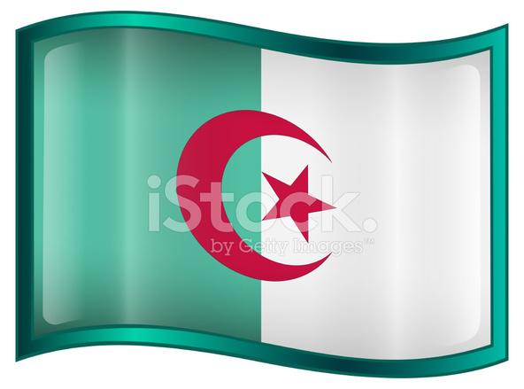Drapeau algerie clipart clipart transparent stock Icône DE Drapeau DE L\'algérie, Isolé Sur Fond Blanc Photos ... clipart transparent stock