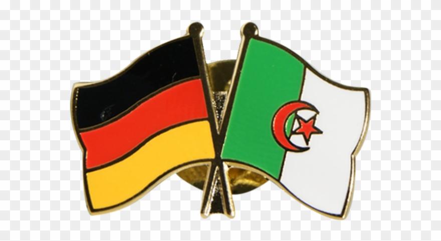 Drapeau algerie clipart image free download Algeria Friendship Flag Pin, Badge - Drapeau Images Logo Algerie ... image free download