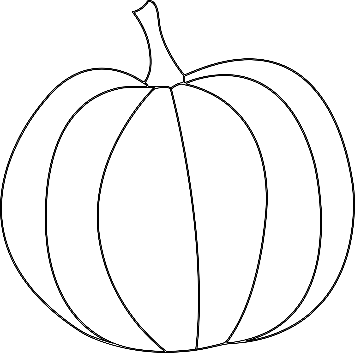 Thanksgiving pictures to draw easy clipart clip black and white 28+ Collection of Pumpkin Line Drawing | High quality, free cliparts ... clip black and white