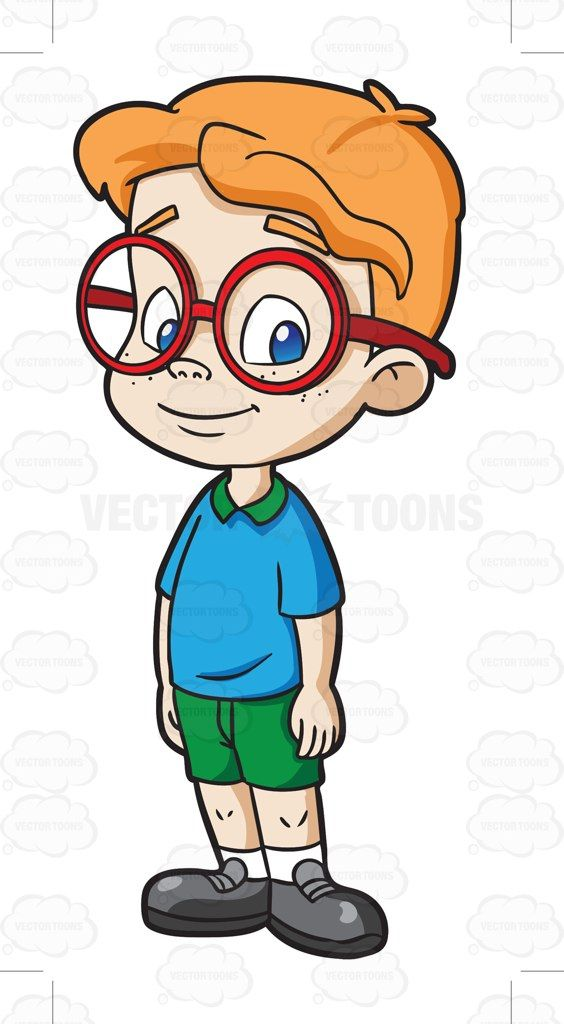 Drawing cartoon clipart clipart stock boy cartoon characters with glasses | Male Kindergarten Student ... clipart stock