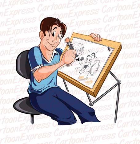 Drawing cartoon clipart image royalty free download cartoon vector illustration cartoonist animator drawing image royalty free download