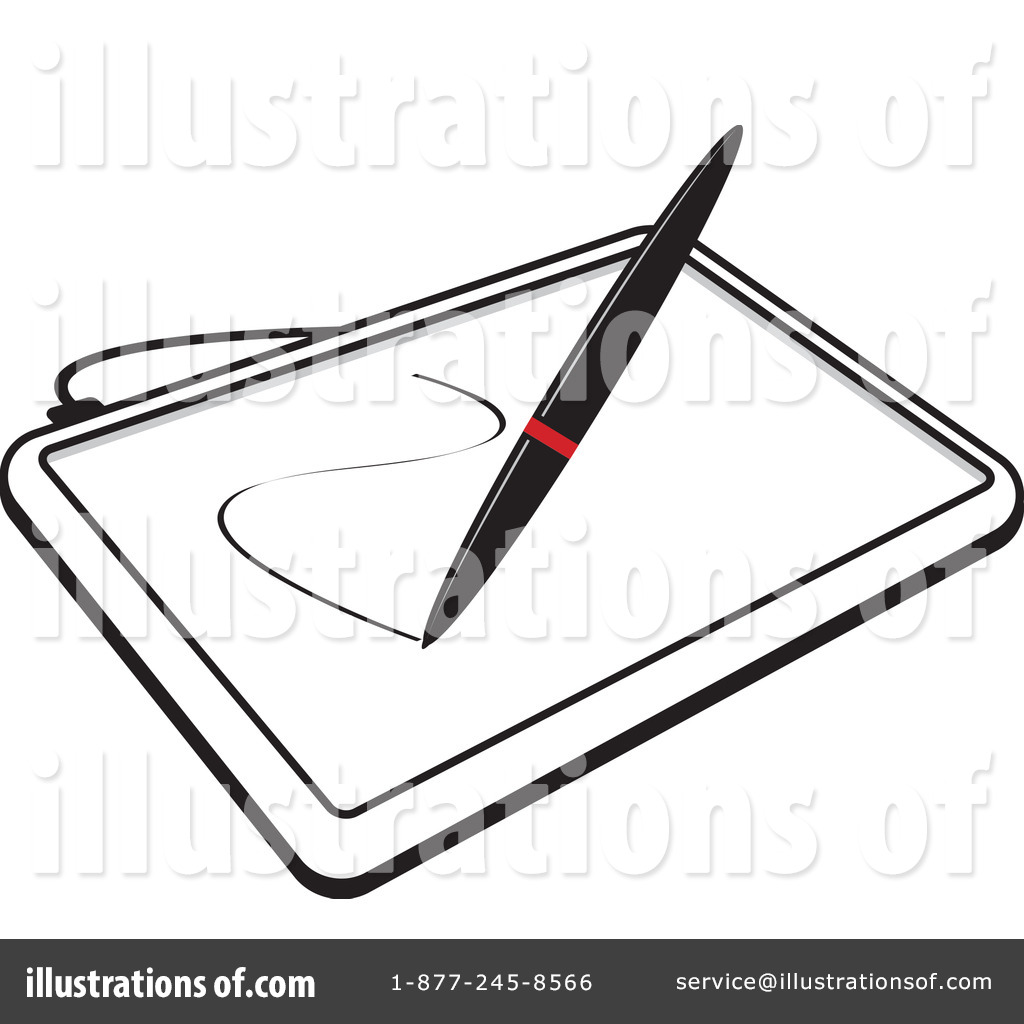 Drawing tablet clipart clip art freeuse stock Tablet Clipart #1117429 - Illustration by Lal Perera clip art freeuse stock
