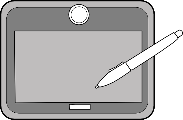 Drawing tablet clipart clipart free library Tablet Cliparts - Cliparts Zone clipart free library