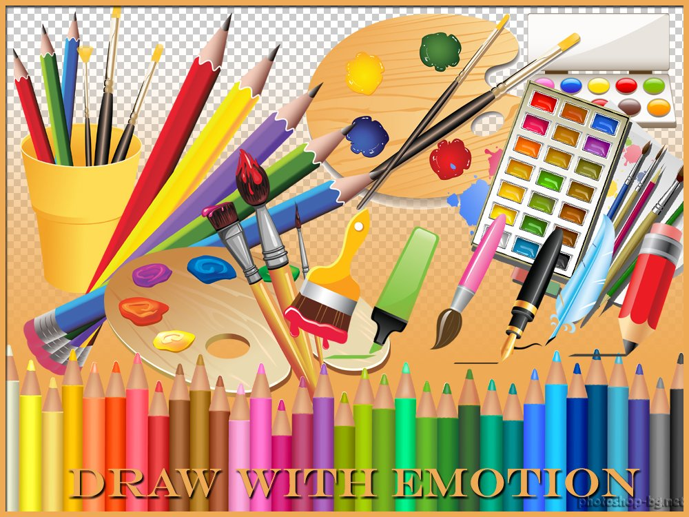 Drawing tools clipart picture black and white library Free Draw A Picture Clipart, Download Free Clip Art, Free Clip Art ... picture black and white library