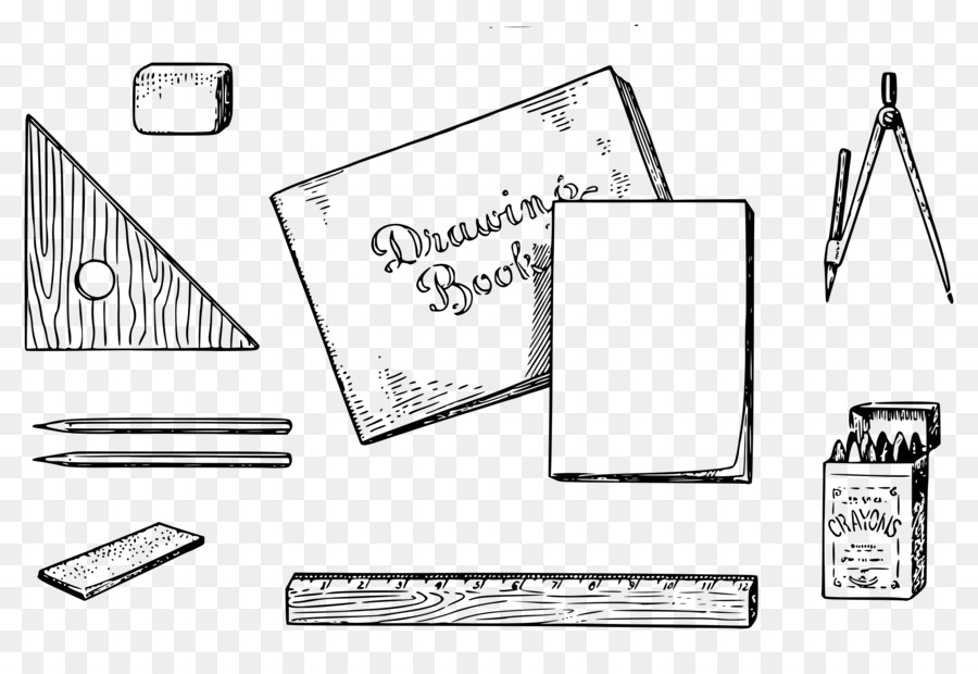 Drawing tools clipart svg black and white library Black Triangle clipart - Technology, Square, Triangle, transparent ... svg black and white library
