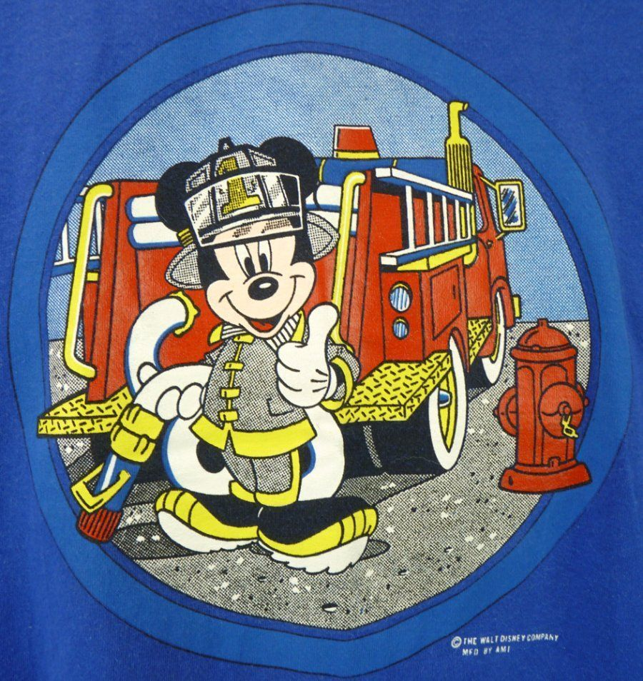 Drawings of the mickey mouse clubhouse on fire clipart clip art free download Mickey Mouse FIREFIGHTER T-Shirt (M) Vintage 90s Fire Engine Disney ... clip art free download