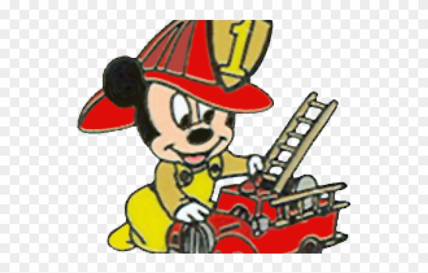Drawings of the mickey mouse clubhouse on fire clipart clipart black and white download Fire Truck Clipart Mickey Mouse - Drawing - Png Download (#306867 ... clipart black and white download