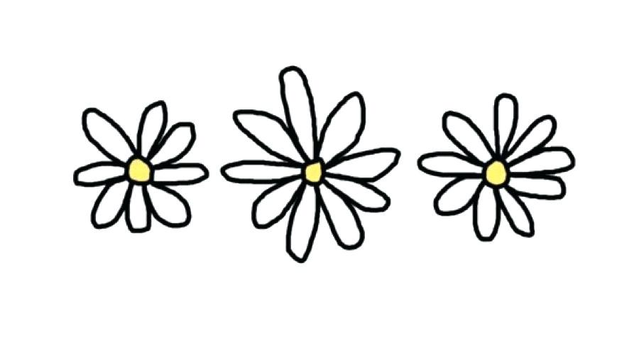 Drawn daisy clipart clip library library Black And White Daisy Drawing | Free download best Black And White ... clip library library