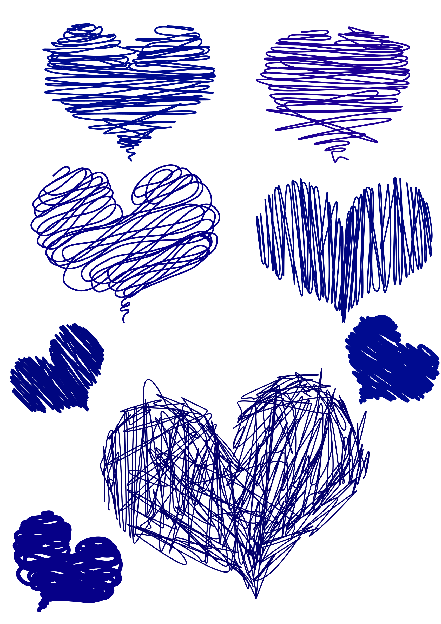 Drawn heart clipart black and white download Clipart - blue hand drawn Heart black and white download