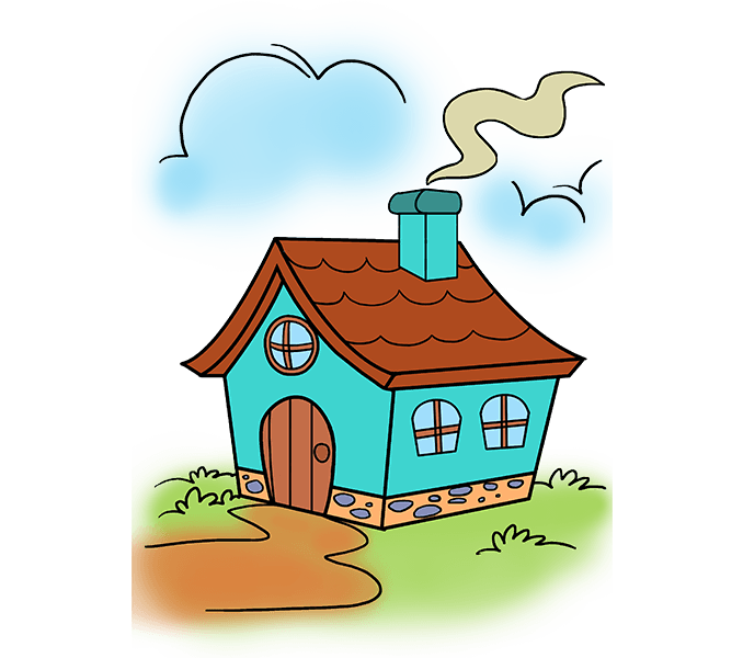 Drawn house clipart clipart royalty free library How to Draw a Cartoon House in a Few Easy Steps | Pinterest ... clipart royalty free library